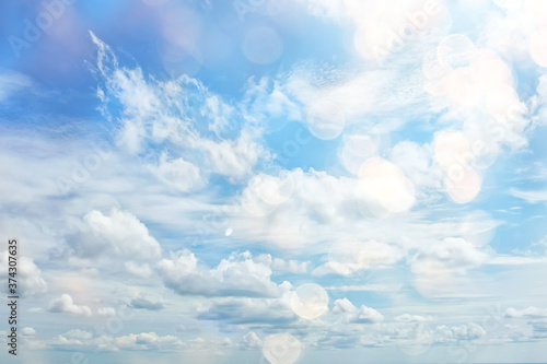 Fotografia vintage tinted sky background, abstract art clouds
