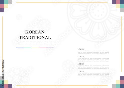 Obraz na plátně Template with Korean tradition pattern background.