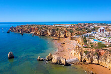 Aerial From Praia Do Camillo O...