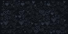 Set Of Hand Draw Heart Day Doo...