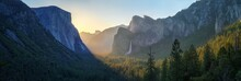 Sunrise At The Tunnel View In ...
