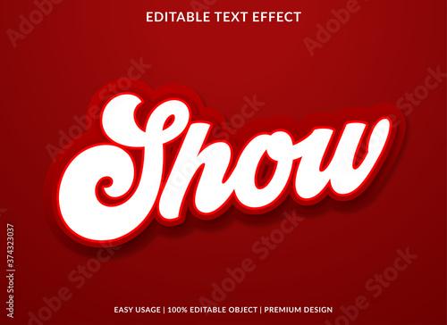 show text effect template with retro style and bold concept use for business log Tapéta, Fotótapéta