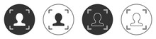 Black Face Recognition Icon Is...