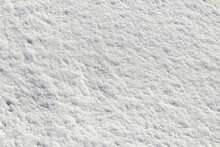 Rough Snow Texture In Sunny We...