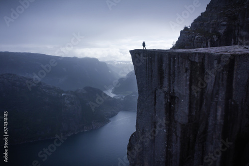 Fotografie, Obraz On top of pulpit rock