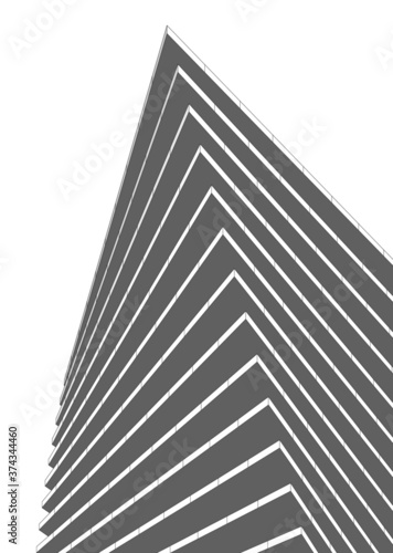 Tela abstract modern architecture 3d illustration