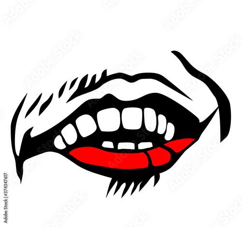 Slika na platnu Evil clown / Creepy clown or horror clown, clown horror smiley face