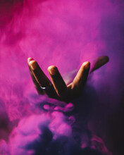 Abstract Hand With Smoke