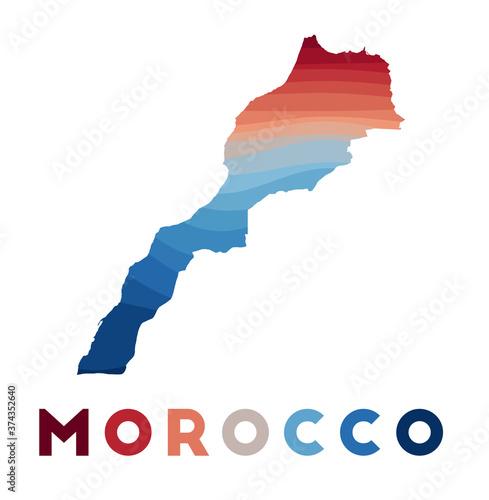 Canvas Print Morocco map