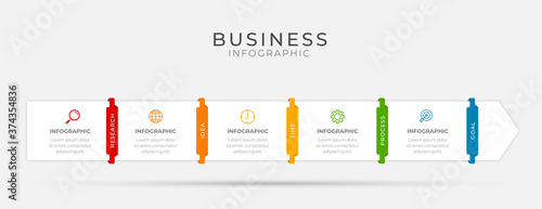 Business infographic element with 5 options, steps, number vector template desig Fotobehang