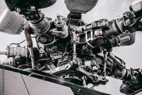 Fotografie, Tablou helicopter motor