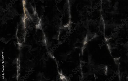 Fényképezés Natural Black Stone Texture Closeup, Smooth Black Marble Flooring Closeup