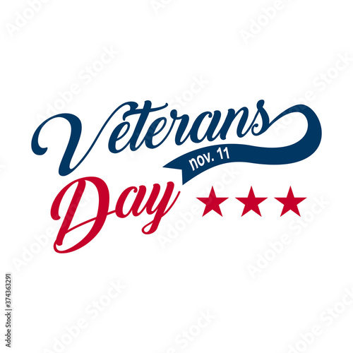 Photo Vintage latter Happy Veterans day concept background.