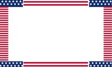 Usa Flag Border Background