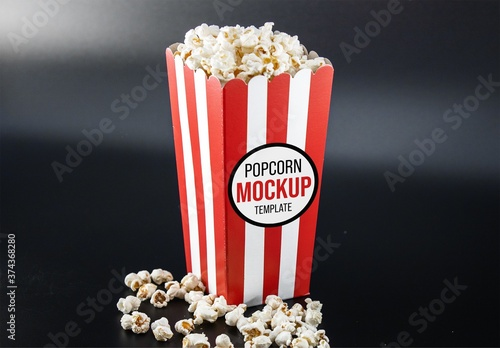 Popcorn Template For Valentines Day Vector