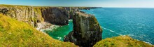 A Panorama Of Stack Rocks With...