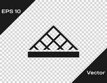 Black Louvre Glass Pyramid Ico...