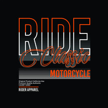 Ride Classic Motorcycle Rider ...
