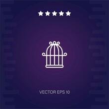 Birdhouse Vector Icon Modern Illustration
