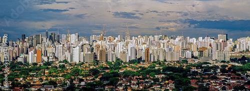 Foto Vista panorâmica da Avenida Paulista .