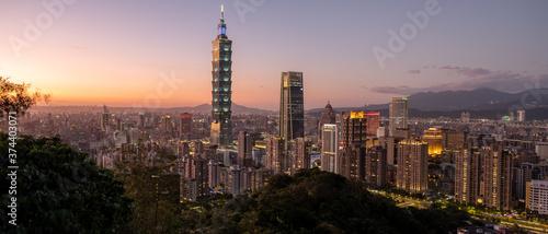 Fotomural Taipei Sonnenuntergang