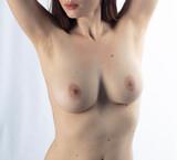 young woman, female nudity portrait, studio shooting