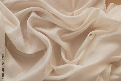 Obraz na plátně silk fabric background  close up of a silk cloth