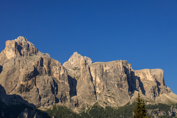 View of the Dolomites near Colfosco, South Tyrol, Italy