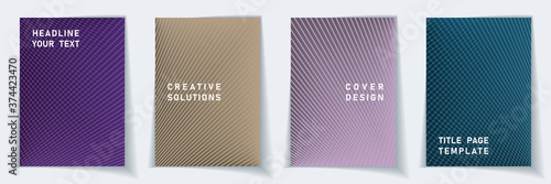 Obraz Crossed lines halftone cover page templates batch - fototapety do salonu