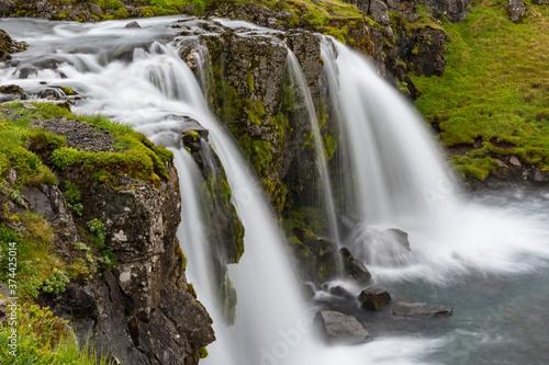 Kirkjufellsfoss waterfall in Snaefellsnes peninsula in Iceland