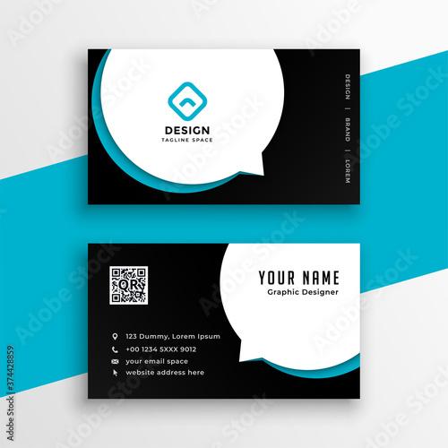 Vászonkép modern business calling visiting card design template