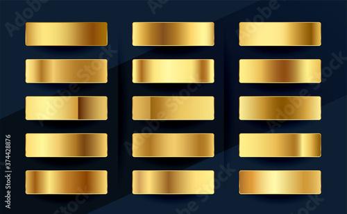 Fotomural premium royal golden gradients swatches palette set design