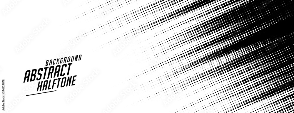 Fototapeta abstract speed lines style halftone banner design