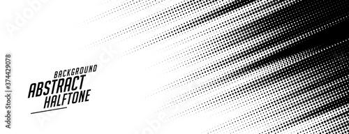 Fototapeta abstract speed lines style halftone banner design obraz