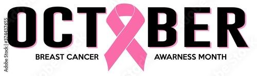 Photo OCTOBER PINK RIBBON BREAST CANCER