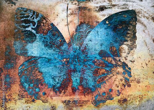Fotografie, Obraz shaman magic butterfly