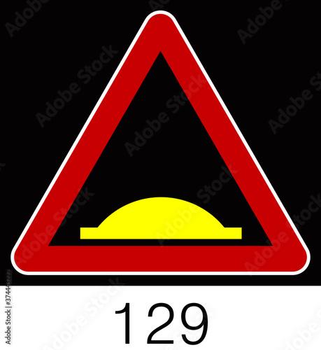 교통 표지판 (Traffic sign) Billede på lærred