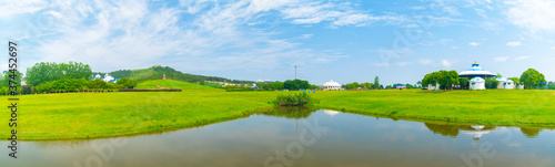 Early Summer scenery of Mulan grassland Scenic spot in Wuhan, Hubei Province, Ch Tapéta, Fotótapéta