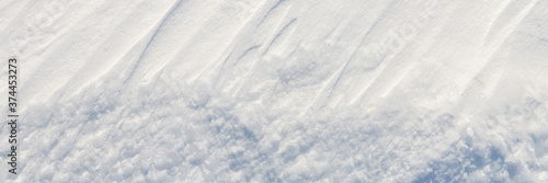 Obraz na płótnie Beautiful winter background with snowy ground