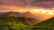 Fabulous Sunrise In The Mounta...
