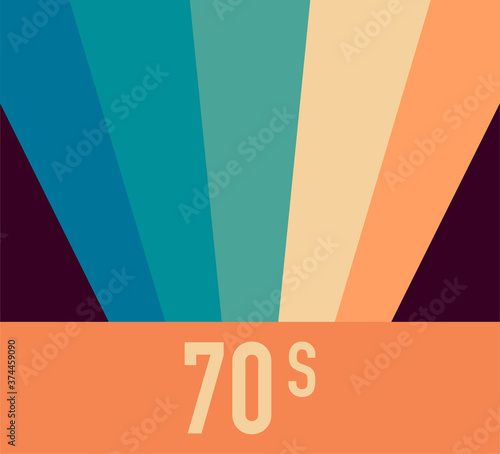 Photo 70s, 1970 abstract vector stock retro lines background