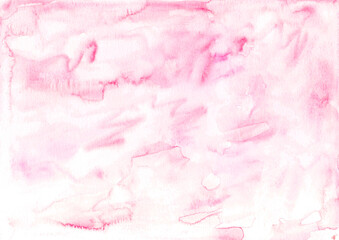 Hand painted watercolor background. Creative textured surface of brush strokes.