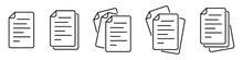 Paper Documents Icons. Linear ...