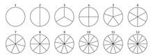 Divide Circle Diagram. Black S...