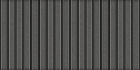Corrugated metal sheet. Texture of dark metal fence or covering. Seamless background.