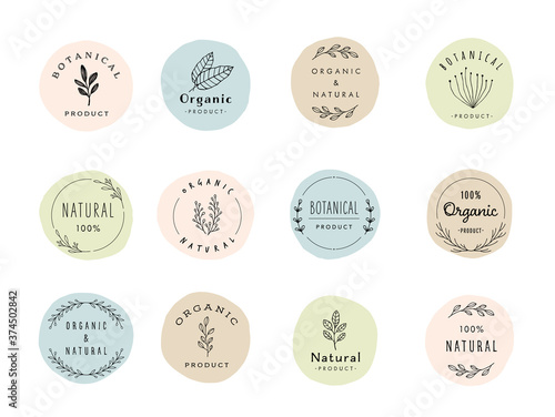 Fototapeta botanical label