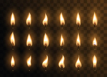 Candle Animated Flames With Re...