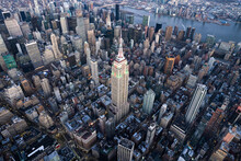 Aerial View Of The Empire State Building In New York City, USA