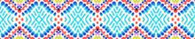 Tribal Boho Pattern. Blue, Pin...