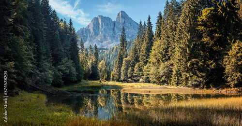 Fotografia Amazing mountain scenery of summer